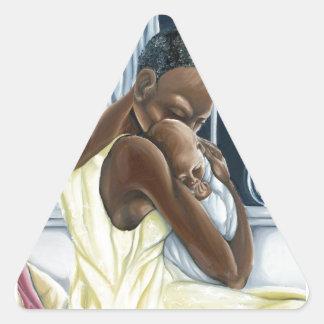 Colección instintiva del niño de la madre pegatina triangular