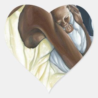 Colección instintiva del niño de la madre pegatina en forma de corazón