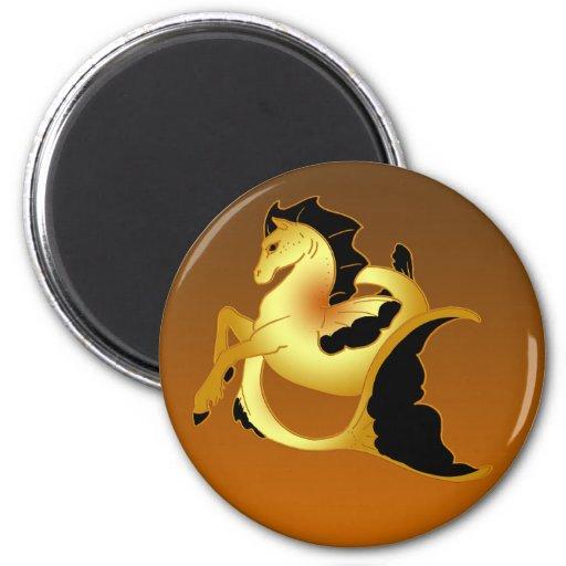 Colección mágica del caballo de mar imán para frigorífico