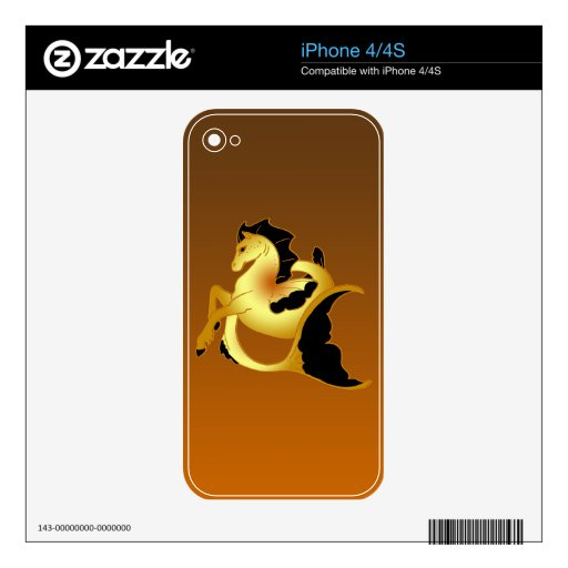 Colección mágica del caballo de mar iPhone 4S skin