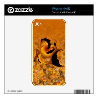Colección mágica del caballo de mar skins para iPhone 4