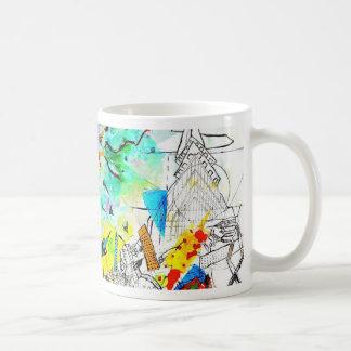 Colección nea, ciudad colorida de neón de Doraelia Tazas