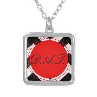 Colección negra roja del personalizar de las colgante cuadrado