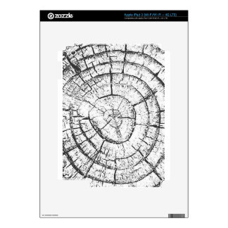 Colección negra y blanca del contemporáneo del iPad 3 skin