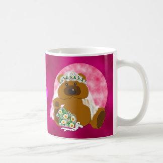Colección nupcial del oso taza de café