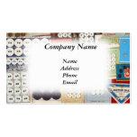 Colección pasada de moda del botón tarjeta de visita