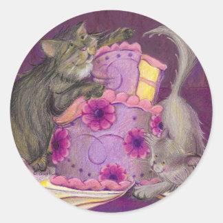Colección/pegatina de los gatos de la torta