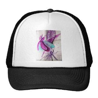 Colección púrpura de las libélulas gorro de camionero