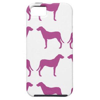 Colección púrpura del perro de caza de Emma iPhone 5 Funda