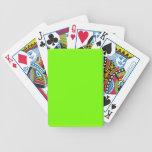 Colección retra de la verde lima de Fluoro Barajas De Cartas