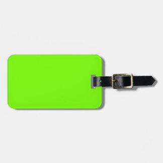 Colección retra de la verde lima de Fluoro Etiquetas Para Equipaje