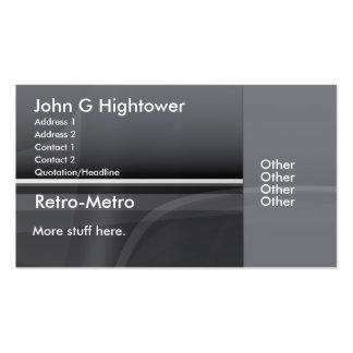 Colección retra del metro tarjeta de negocio