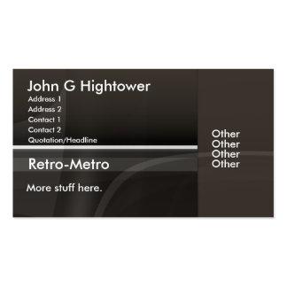 Colección retra del metro tarjetas de visita