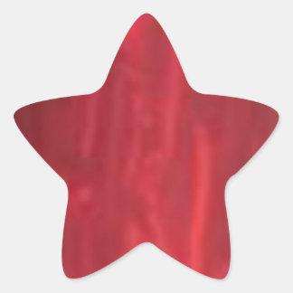 Colección roja chispeante del colorete de STBX Pegatina En Forma De Estrella