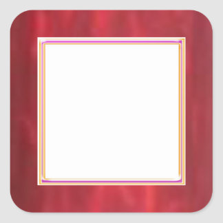 Colección roja chispeante del colorete de STBX Pegatina Cuadrada