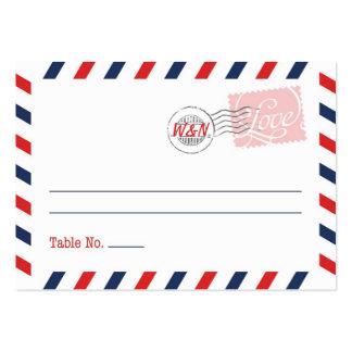 Colección roja del servicio postal de la tarjeta tarjetas de visita grandes