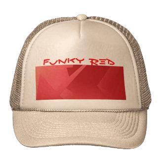 Colección roja enrrollada gorros bordados