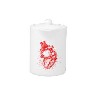 Colección roja y blanca del corazón anatómico