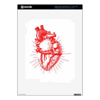 Colección roja y blanca del corazón anatómico iPad 3 pegatinas skins