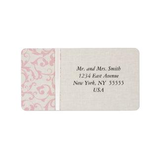 Colección rosada del boda de SmartElegance Etiqueta De Dirección