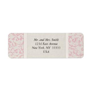 Colección rosada del boda de SmartElegance Etiqueta De Remite