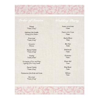 """Colección rosada del boda de SmartElegance Folleto 8.5"""" X 11"""""""