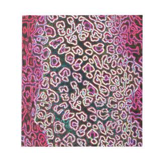 Colección rosada del leopardo blocs de notas