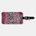 Colección rosada del leopardo etiquetas para equipaje