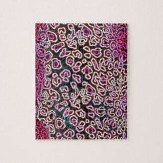 Colección rosada del leopardo puzzles