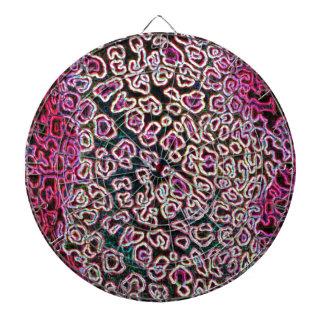 Colección rosada del leopardo tablero dardos