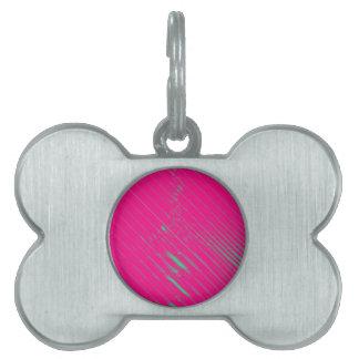 Colección rosada del paseo marítimo placas mascota