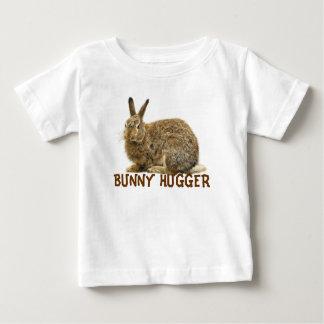 Colección salvaje del conejo del CONEJITO HUGGER Playera De Bebé
