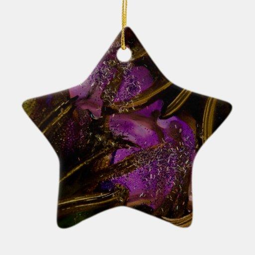 Colección salvaje del jardín v4 adorno navideño de cerámica en forma de estrella