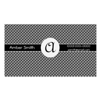 Colección sólida del círculo del monograma tarjetas personales