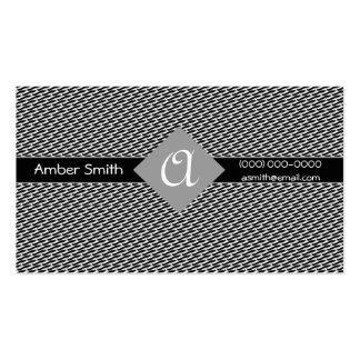 Colección sólida del diamante del monograma plantilla de tarjeta personal