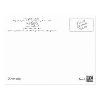 Colección soñadora de la dalia tarjetas postales