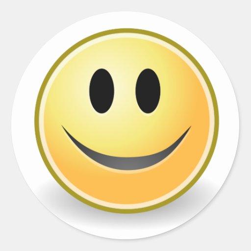 Colección sonriente pegatina redonda