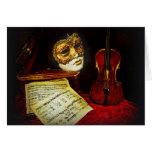 Colección veneciana de las máscaras - noche musica felicitaciones