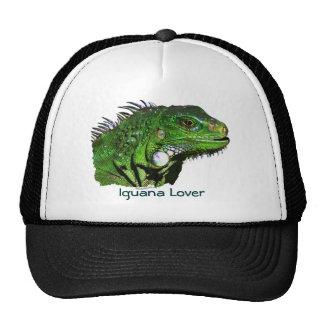 Colección verde de la iguana gorros bordados