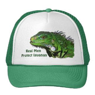 Colección verde de la iguana gorro de camionero