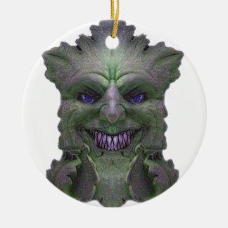 Colección verde de la luz del demonio adorno para reyes