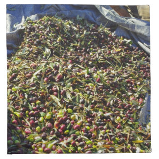 Colección verde oliva servilleta imprimida