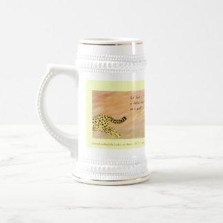Coleccionable Stein del arte del Haiku del guepard Tazas De Café