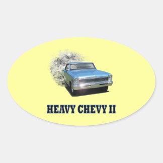 Coleccionables clásicos de Chevy II Pegatina Ovalada