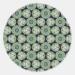 Coleccionables verdes de la mezcla y del partido - pegatina redonda