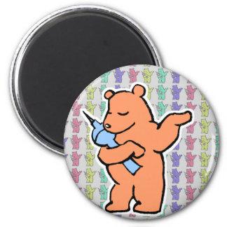 Colecciones berlinesas del oso imán redondo 5 cm