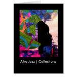 Colecciones del jazz el | del Afro Tarjeta De Felicitación