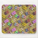 Colecciones Mousepad del flip-flop Tapete De Ratón