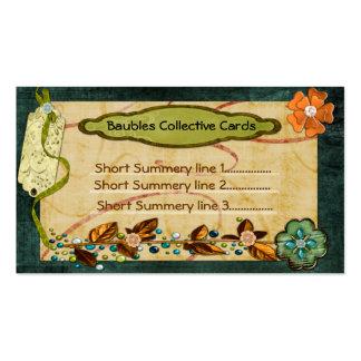 Colectividades 2 de la chuchería echadas a un lado tarjetas de visita