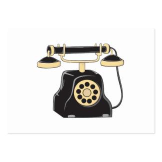 Colector antiguo de encargo del teléfono del dial tarjetas de visita